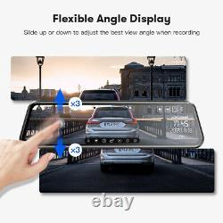 AZDOME 11.8 Mirror Car Dash Camera Touch Screen Dual Front and Rear Cam