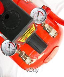 Air Compressor 3HP 50L 10 Bar V Twin Burisch Portable 50 Litre 10Bar