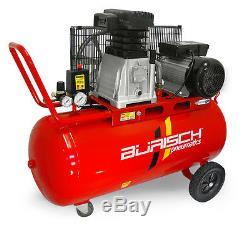 Air Compressor 3HP 90L Belt Drive 14.1CFM Twin Cylinder Burisch 90 Ltr 90 Litre