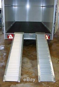 Alu Auffahrschiene Auffahrrampe Schiene Rampe 2000 kg 1500 mm für Anhänger