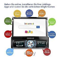 Android 5.1 Autoradio Mit Navi Gps Wifi Obd Bildschirm Touchscreen Usb Sd 1din