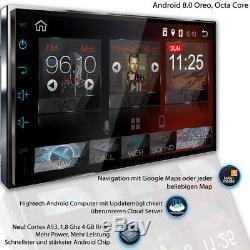 Android 8.0 AUTORADIO Navigation NAVI BLUETOOTH USB GPS Doppel 2 DIN WIFI 3G DAB