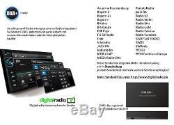 Autoradio Bluetooth DAB+ Navigation mit Bildschirm Navi CD 2 DIN USB Touchscreen