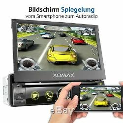 Autoradio Gps Navigation Bluetooth Dvd Cd Sd Usb Handy Mirror 7 Farben 1Din