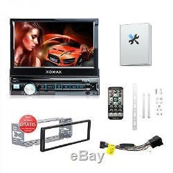 Autoradio mit Android App 7 Touchscreen Bildschirm Bluetooth DVD CD USB SD 1DIN