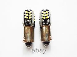 BA9S 233 T4W 24 Led Smd Xenon White Side Light Bulbs Lamps Canbus No Error 12V