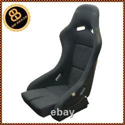 BB5 Large Fixed Fibreglass Racing Bucket Seat + Side Mounts & Runners