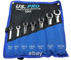 BERGEN Flare Nut Spanner Set 7pc Brake Pipe Gas Fuel Spanner Flare Wrench 8-24mm