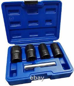 BERGEN Locking Wheel Nut Remover Set Stud Bolt Nut Impact Twist Socket Extractor