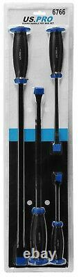 BERGEN Pry Bar Set With Protective Handle Guard HEAVY DUTY JEMMY CROW PRY BARS