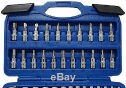 BERGEN Sockets & DEEP Socket Set 1/4 Drive Tool Set With Ratchet Torx Hex UJ PZ
