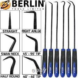 BERLIN Long Reach Pick And Hook Tool Set O Ring Seal Hose Removal Puller Set HD