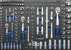 BGS volle 3/3 Werkstattwageneinlage Steckschlüsselsatz Pro Torque 4036