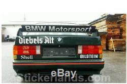 BMW Aufkleber E36 GT SPOILER CLASS 2 Sticker BMW MOTORSPORT Heckspoiler Heckflüg