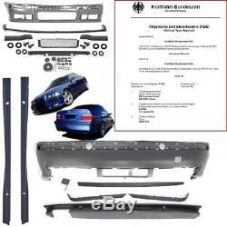 BMW E36 Stoßstange BODYKIT Komplett vorne hinten Seite+ Zubehör M M-Paket M3+ABE