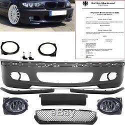 BMW E46 STOßSTANGE Limousine Touring +Zubehör+Nebel für M-Paket II Technik 98-05