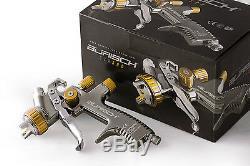 BURISCH LVLP Primer Spray gun spraygun GTR500 1.8mm Gravity Feed Fed