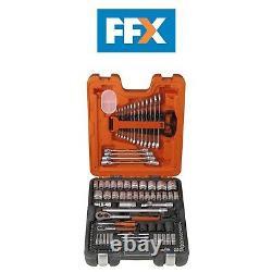 Bahco BAHS106 Socket Set 106-Piece 1/4 + 1/2 Drive Ratchet Wrench Garage Tool