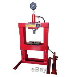 Big Red Workshop Garage Hydraulic Press 10 Ton Tonne Bench Type Press (SWE046)