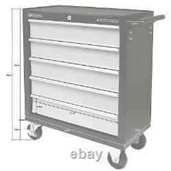 Black Metal 5 Drawer Lockable Tool Chest Storage Box Roller Cabinet/rollcab Cab