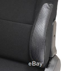 Black Reclining Sports Seats Adjustable Recliner Seat Pair for Car/Buggy/ATV/4x4