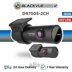 Blackvue DR750S-2CH (16GB) Front & Rear Dash Cam Wi-Fi GPS Full HD Refurbished