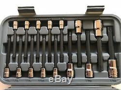 Blue Point 43 Pcs 1/4 3/8 1/2 Dr. Tamper Resistant Torx Socket Set Snap On