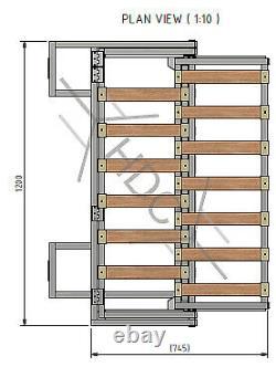 Camper Van Metal Folding Bench Seat Bed VWithCitroen/Peugeot/Fiat/Ford