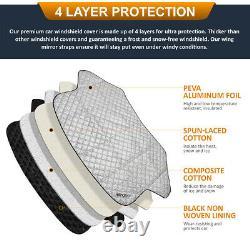 Car Reversible Windscreen Cover Windshield Aluminium Snow Ice Frost Sun UV Dust