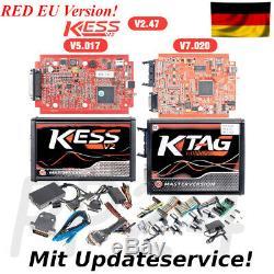 Chiptuning KESS V2 RED Master V5.017 + KTAG V7.020 ECU programmer OBD2 online
