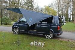 DELUX Sun Canopy Awning VW Camper Van Motorhome Camper Car 2.4m x 3m DARK GREY