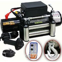 DMS 12V Elektrische Seilwinde 5900 KG Motorwinde Offroad + Funkfernbedienung