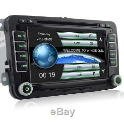 DVD GPS Autoradio für VW Passat B6 Golf 5 6 Touran Polo Skoda Octavia EOS Navi
