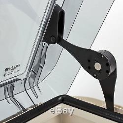 Dachhaube Remis Remitop Vista 40 x 40 cm Klar + Dekalin Dichmittel für Wohnwagen