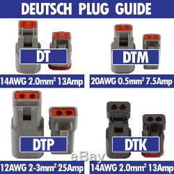 Deutsch DT Connector Plug Kit 249pc With Crimp Tool Automotive #DT-KIT3-TR