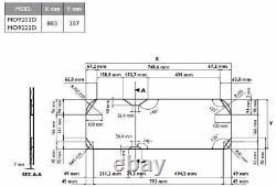 Dometic Smev 9222 Rh Sink 2 Burner Hob Campervan Combi Unit + Template No Tap