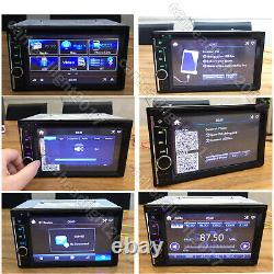 Double 2 DIN Head Unit Car Stereo CD Player Touch Screen Mirror Link for GPS New