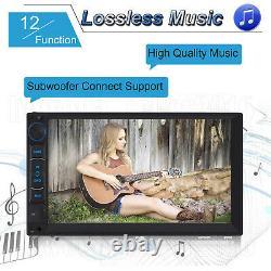 Double Din Android Car Stereo Head unit Radio + SatNav WiFi USB FM AM Player