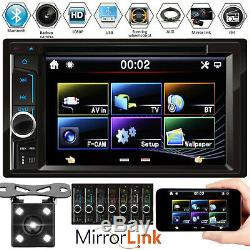 Double Din Car Stereo DVD Player Mirror Link 6.2inch HD USB Radio + Camera