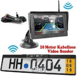 Drahtlose Funk Rückfahrkamera + FARB MONITOR Auto KFZ PKW Bus Kamera Car Camera