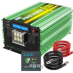 EDECOA Power Inverter 3500W 7000W Pure Sine Wave 12V dc to ac 240V LCD Display