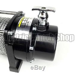 Electric Winch Stealth 13000lb 12v Steel Rope Wireless Recovery 4x4 UK Seller