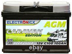 Electronicx Caravan Edition Batterie AGM 100AH 12V Wohnmobil Boot Versorgung