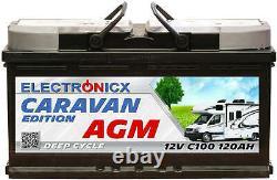 Electronicx Caravan Edition V2 Batterie AGM 120AH 12V Wohnmobil Boot Versorgung