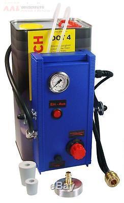 Elektrisches Bremsenentlüftungsgerät mit 3 m Füllschlauch Bremsentlüftungsgerät