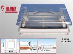 FIAMMA Dachfenster Dachluke VENT 50 x 50 Wohnwagen Caravan Rollo + KLAR