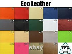 FORD TRANSIT CUSTOM SEAT COVERS 2+1 FULL ECO LEATHER And 3 Logos