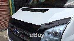 FORD Transit MK7 Bonnet Protector Bug Guard Solid Black 2006-2013