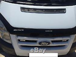 FORD Transit MK7 Sun Visor and Bug Guard Solid Black Acrylic 2006-2013