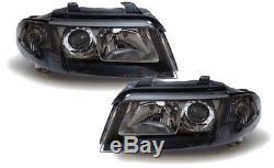 Facelift DE Klarglas Scheinwerfer schwarz für Audi A4 B5